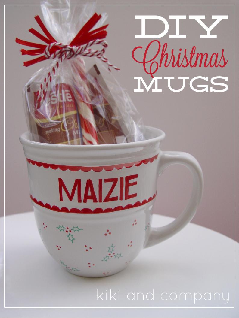 diy christmas mugs free printable kiki company