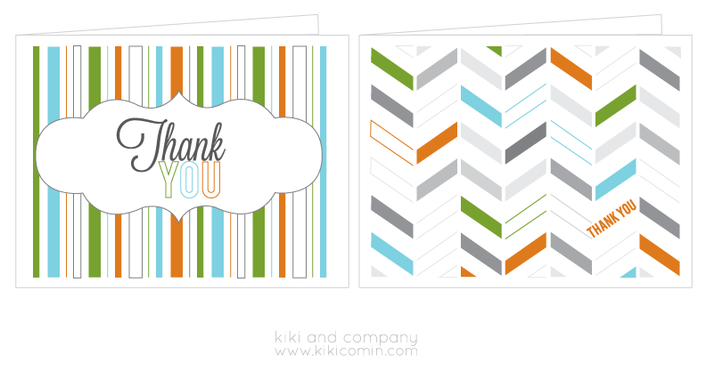 Free Thank You Cards free printable   Kiki & Company