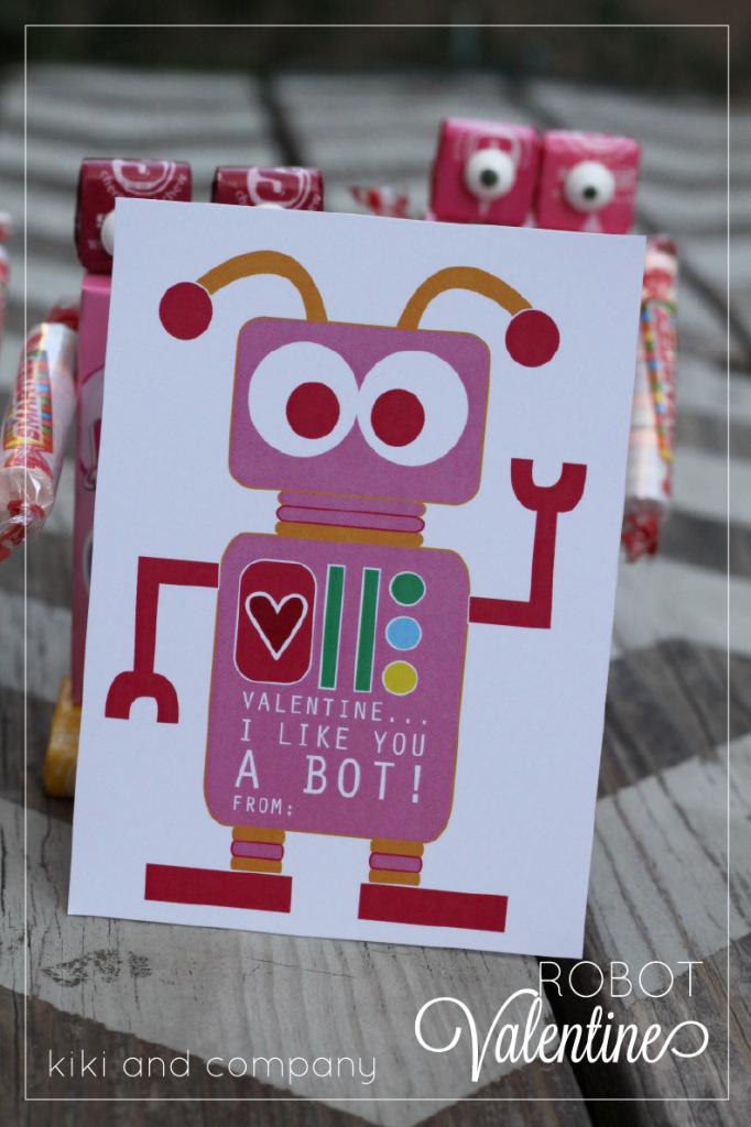10 Printable Robot Valentines @michellepaigeblogs.com