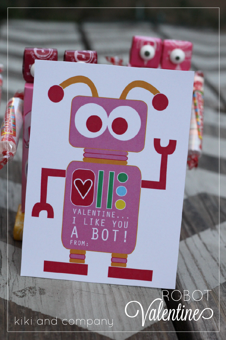 photo regarding Printable Robot referred to as Robotic Valentines Cost-free Obtain - Kiki Business