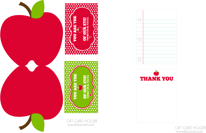 photograph about Teacher Appreciation Cards Printable called Oneself are the Apple of our Eye Cost-free Trainer Appreciation