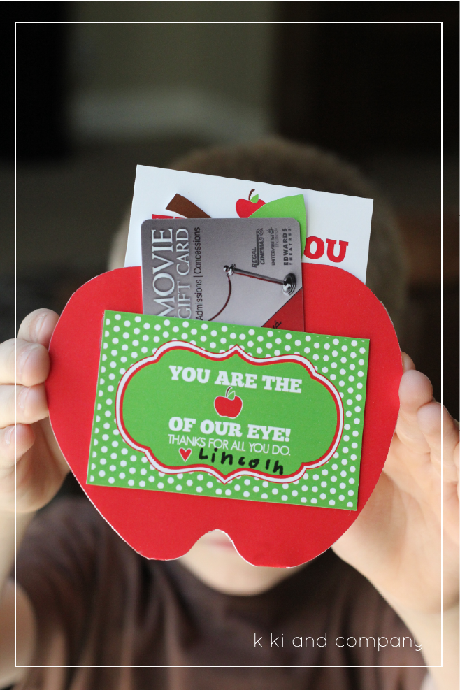 You are the Apple of our Eye {Free Teacher Appreciation Printable ...