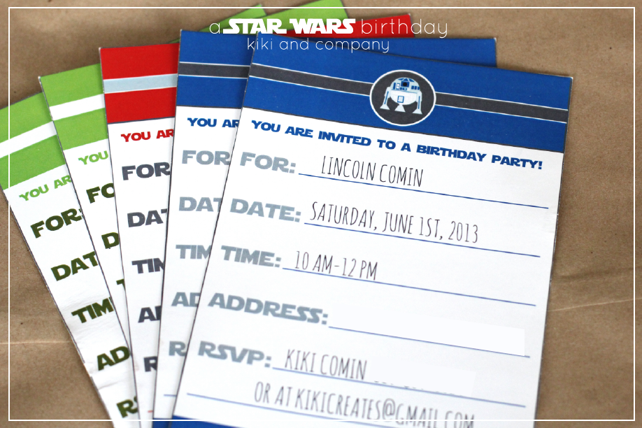 A Star Wars Birthday Kiki Company - Star wars birthday invitation diy