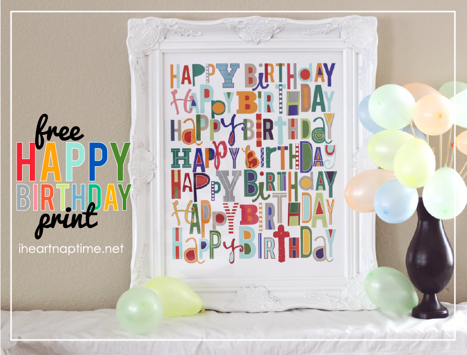 happy birthday posters free