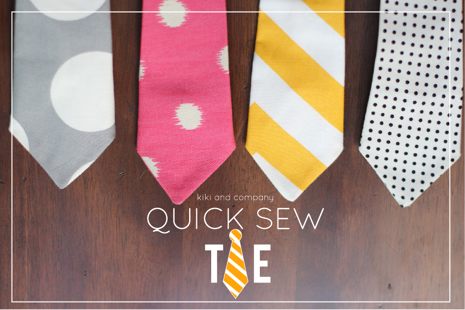 Quick sew ties kiki company the ccuart Image collections