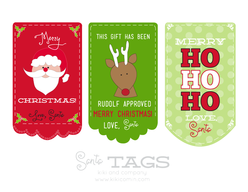 Free santa tags free printable kiki company get them here and have a merry christmas negle Images