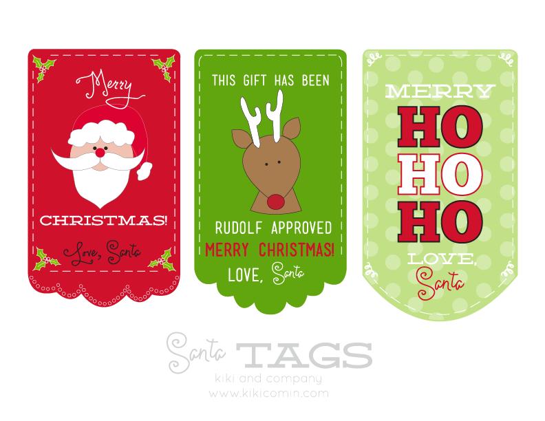 image relating to Printable Santa Tags called Free of charge Santa Tags! free of charge printable - Kiki Small business