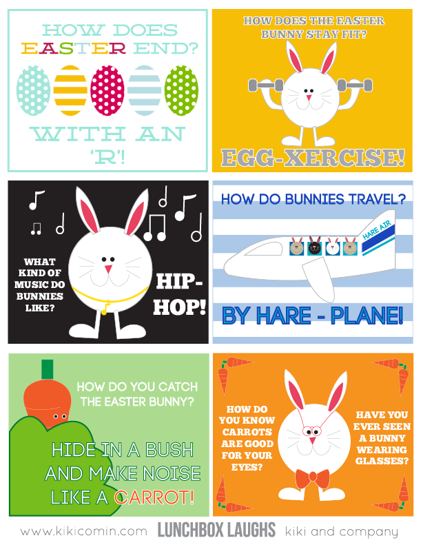 lunchbox laughs easter bunny edition free printable kiki company
