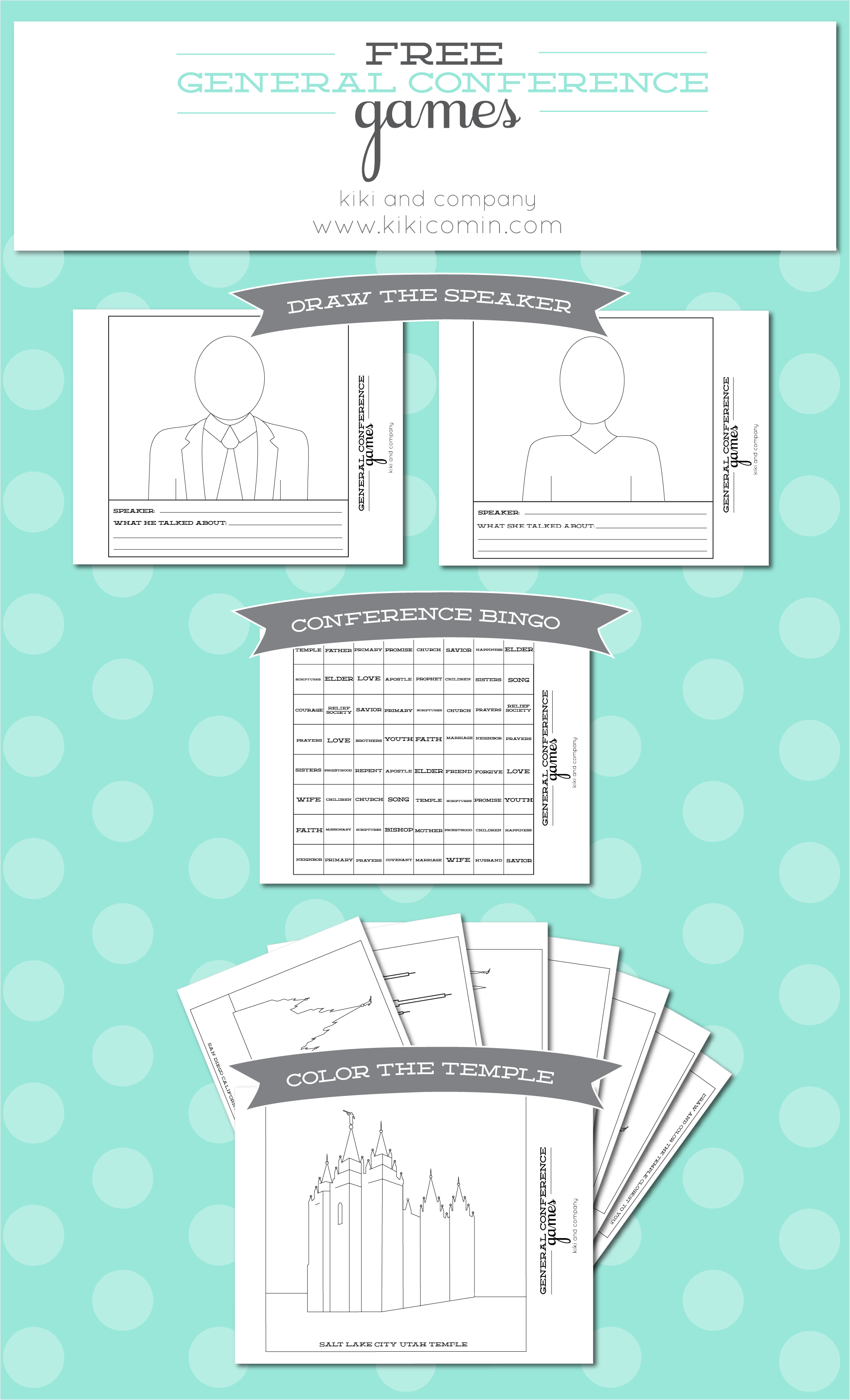 Free General Conference Printables for Kids {free printable ...