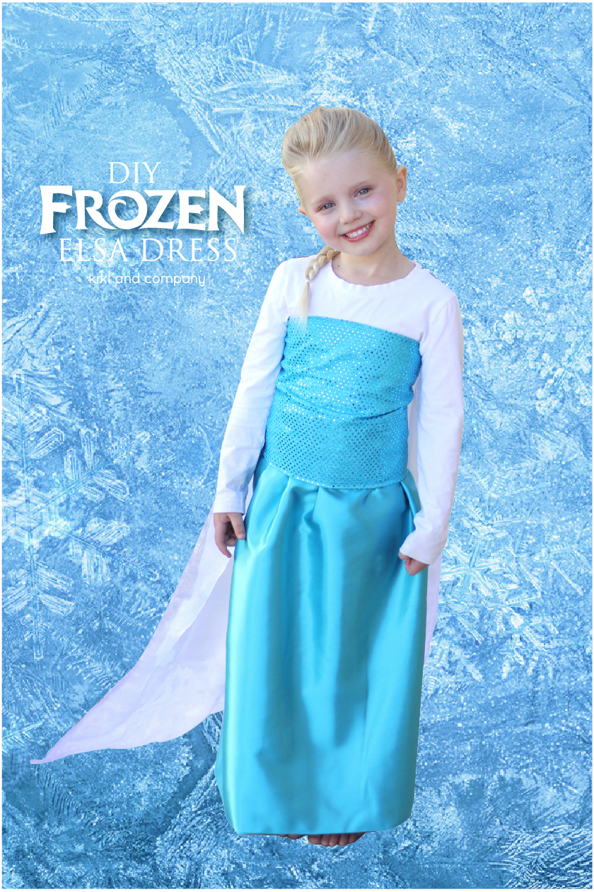 Because ...  sc 1 st  Kiki Comin & DIY Frozen Elsa Dress tutorial Materials List and The Sparkle Top ...