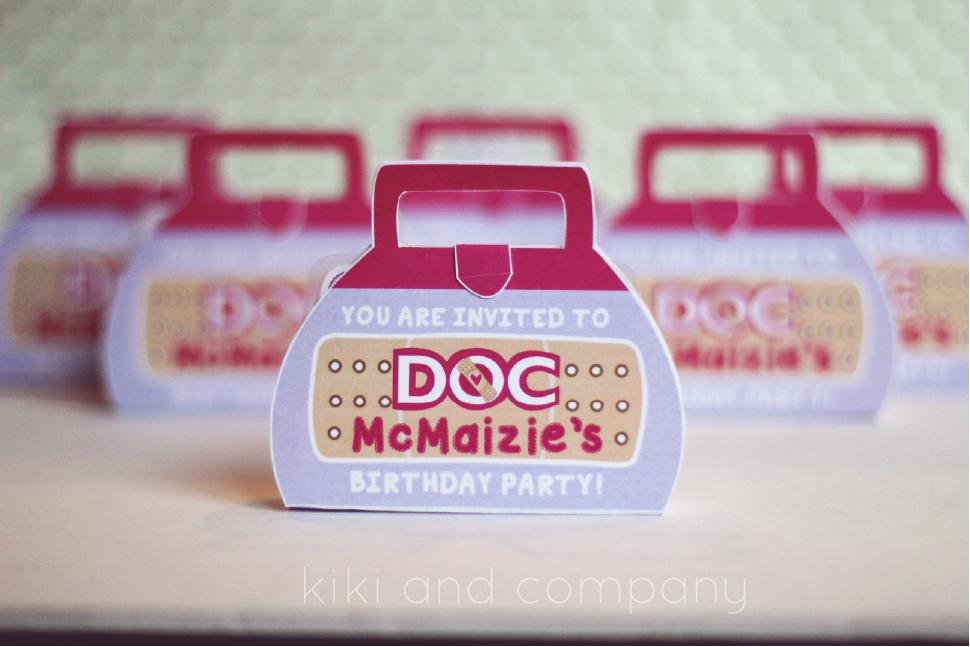 Doc McStuffins Birthday Party {the invites} - Kiki & Company