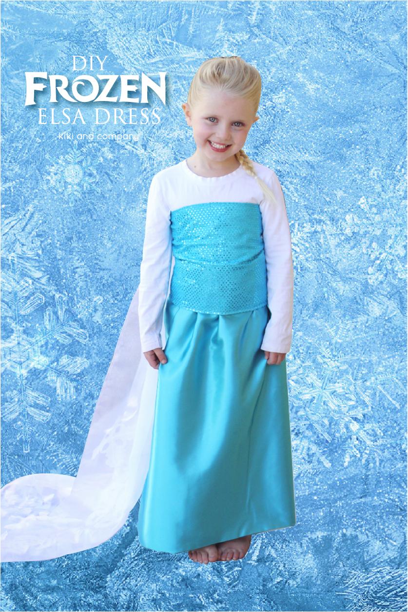 DIY Frozen Elsa Dress {tutorial} Materials List and The Sparkle Top ...