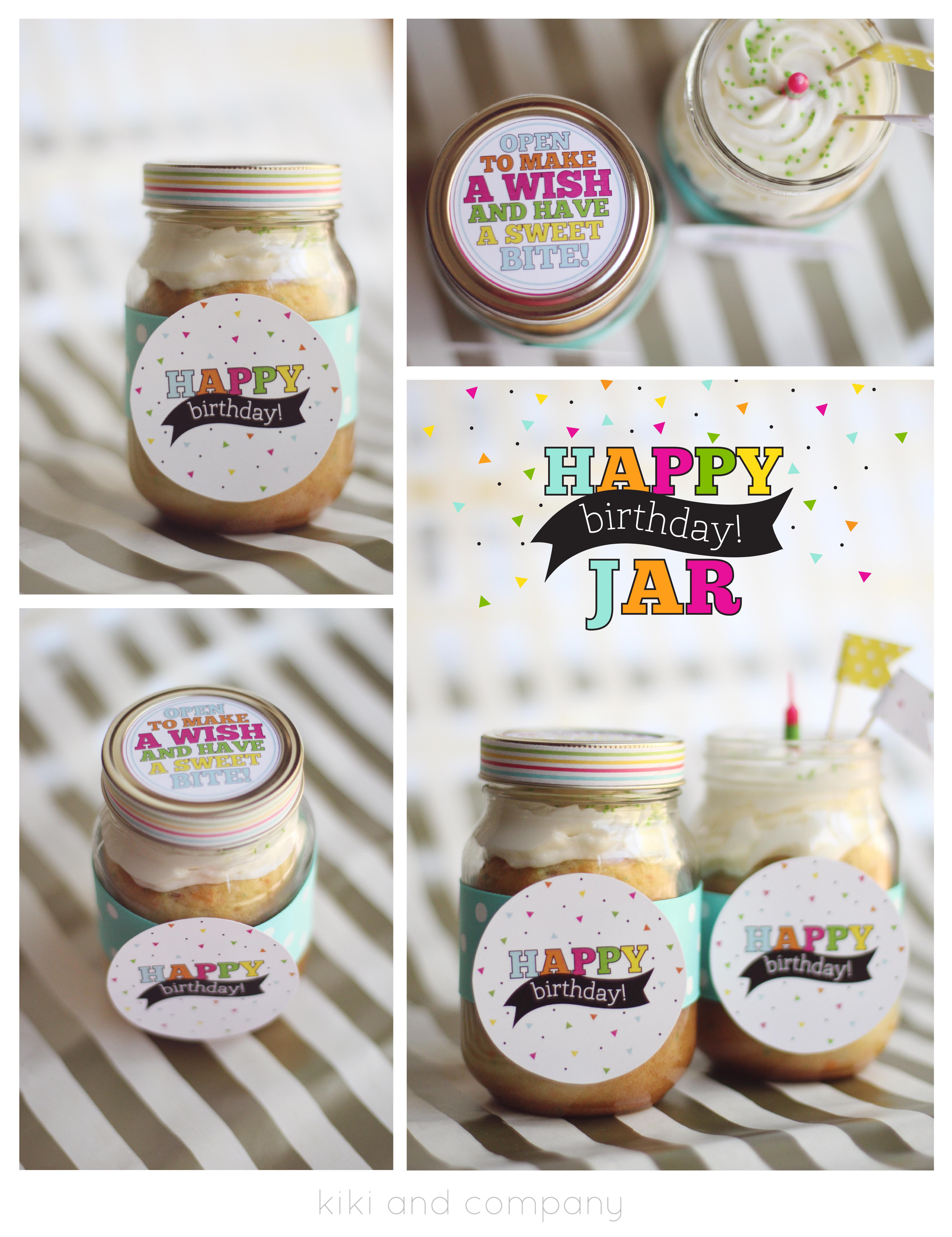 Happy Birthday Jar