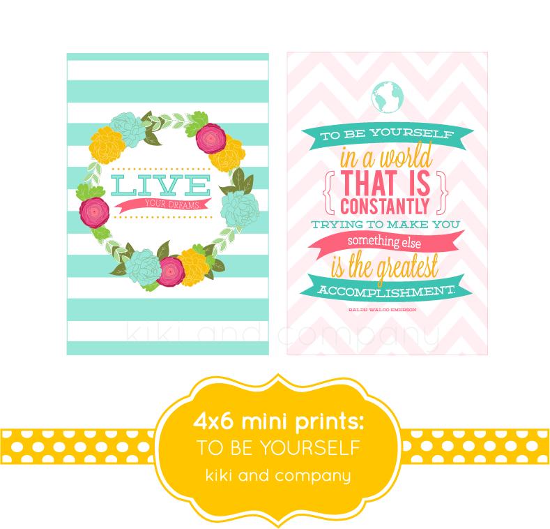 4x6 Mini Prints To Be Yourself Kiki