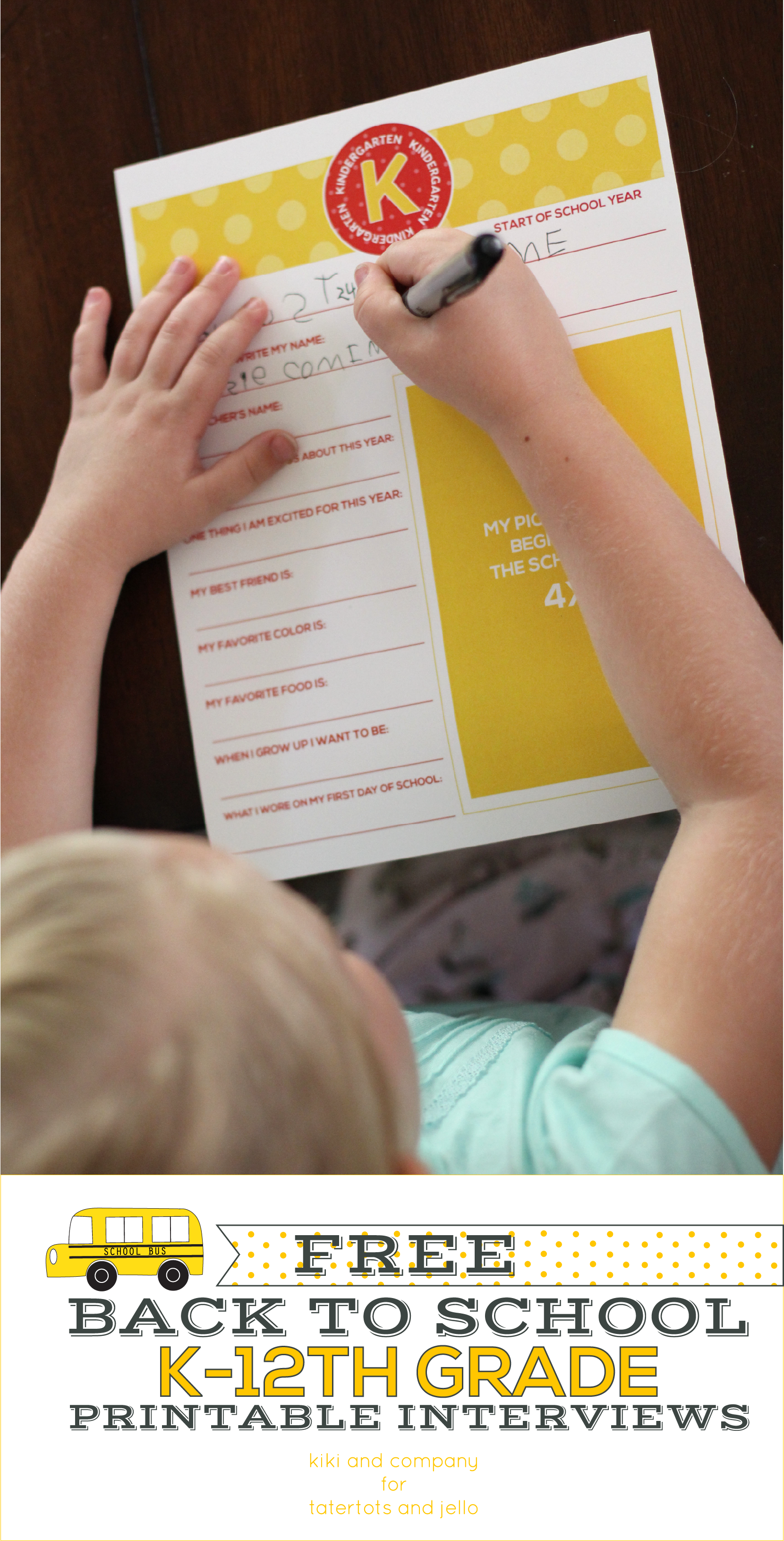 Printable Back to School Photo Signs for Kindergarten through 12th ...