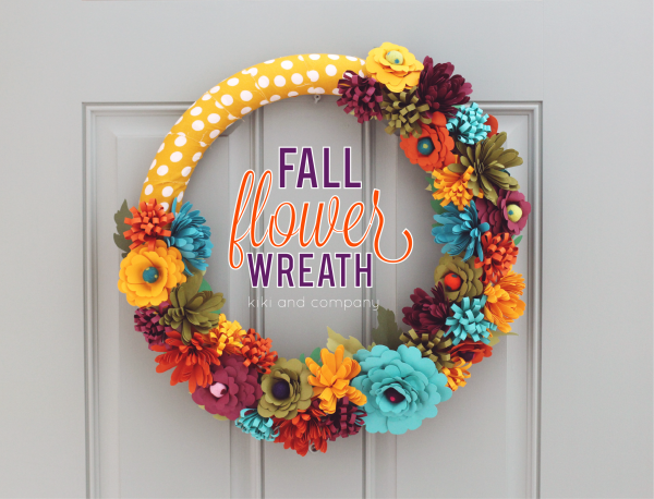 Fall Flower Wreath from kiki and company. Includes free printables.