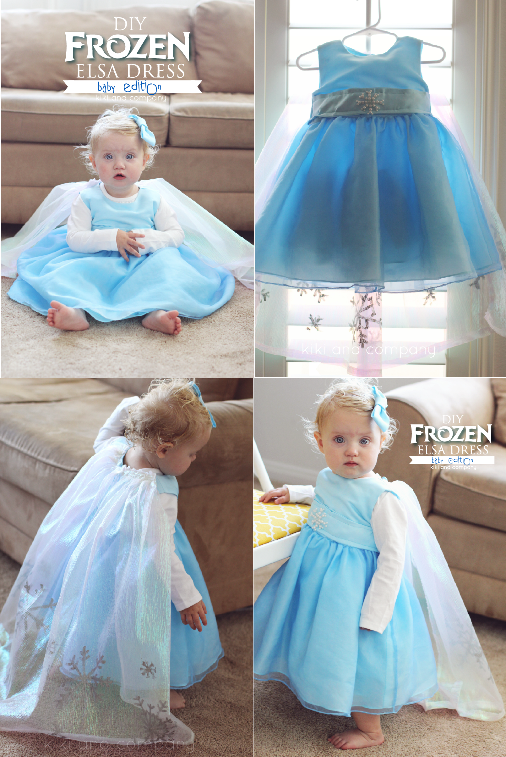 And now itu0027s time for tons more DIY Halloween costume ...  sc 1 st  Kiki Comin & DIY Frozen Elsa Dress BABY Edition free tutorial - Kiki u0026 Company