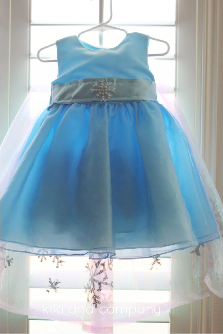 DIY Frozen Elsa Dress BABY Edition {free tutorial} - Kiki & Company