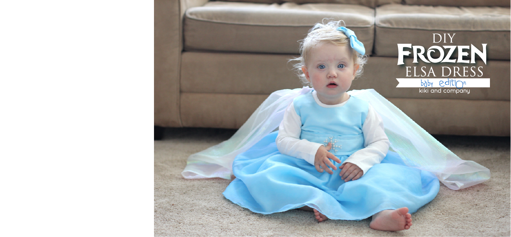 Along ...  sc 1 st  Kiki Comin & DIY Frozen Elsa Dress BABY Edition free tutorial - Kiki u0026 Company