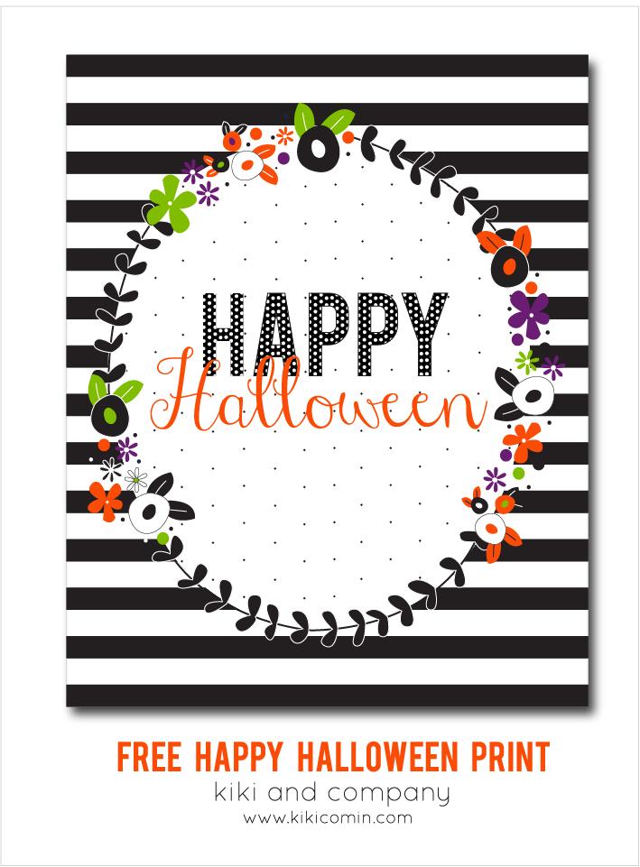 Free Happy Halloween Print {free printable} - Kiki & Company