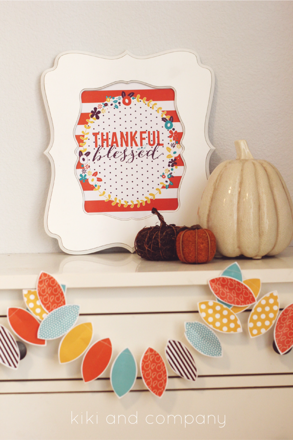 New and FREE Thanksgiving print from kiki and company. #thanksgiving #decor