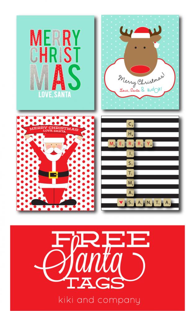 Free Santa Tags