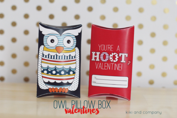 Owl Pillow Box Valentines at kiki and company. Super Cute!