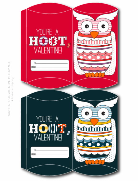 You're a Hoot, Valentine Pillow Box from kiki and company