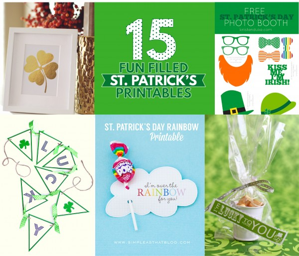 15 Fun Filled St. Patrick's Day Printables. 15 awesome printables from all over blog land to make your day easy and magical.