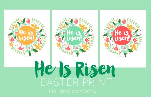 He is risen print from kiki and company