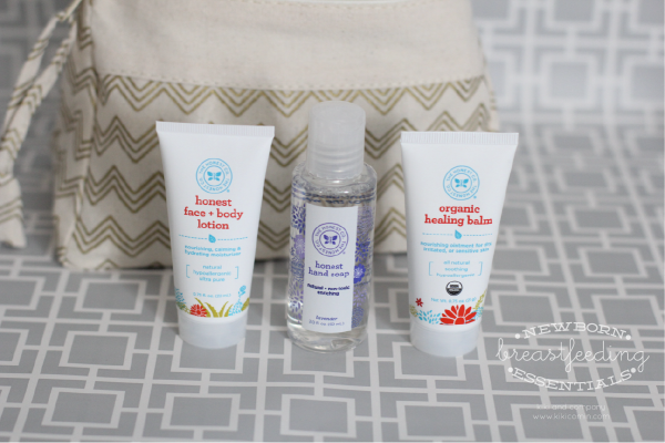 Newborn Breastfeeding Essentials at kiki and company. Hand cleaner, lotion and Healing Balm.