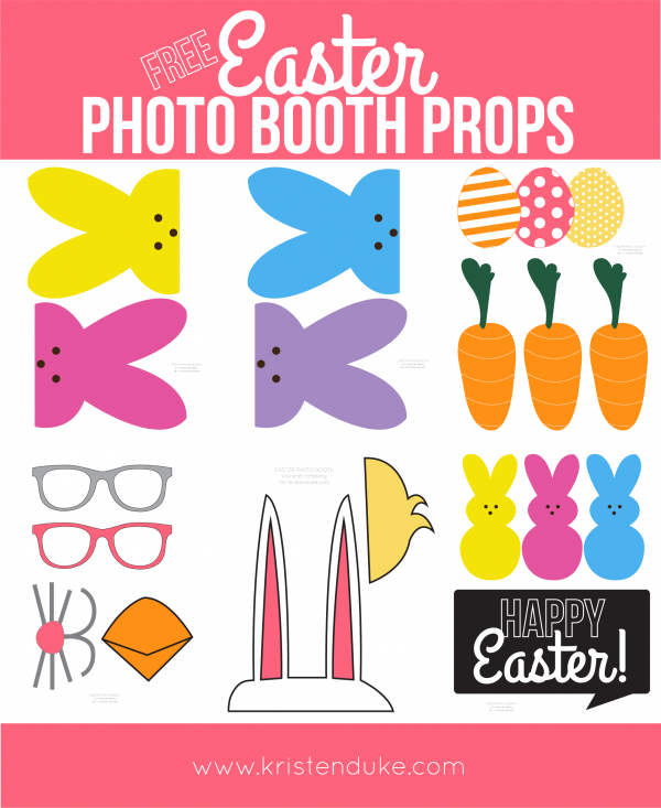 Free Easter Photo Booth Props