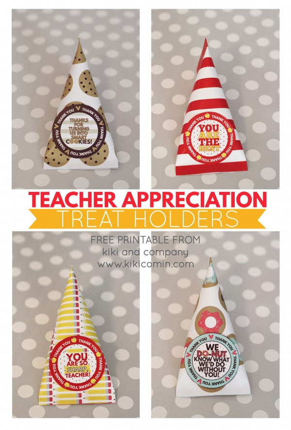 Teacher Appreciation Treat Holders from kiki and company