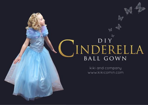 DIY Cinderella Ball Gown Tutorial at kiki and company
