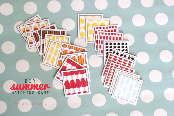 DIY Summer Matching Game. So cute!