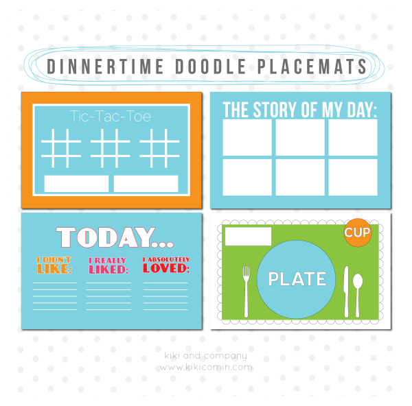 Dinnertime Doodle Placemats