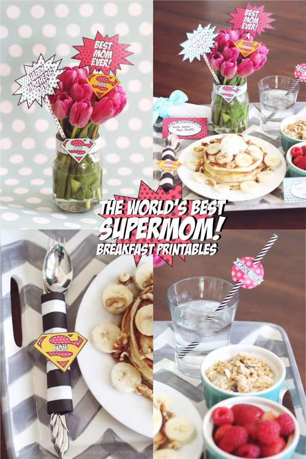The World's Best Supermom Breakfast Printables. CUTE!