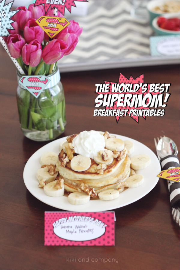 The World's Best Supermom Breakfast Printables. Can't wait to use these.