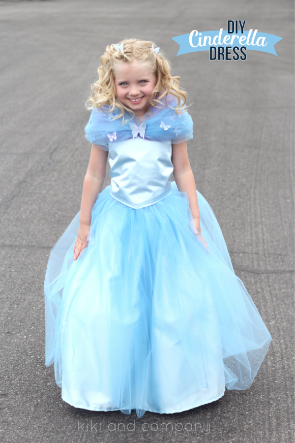 DIY Cinderella Ball Gown Dress Tutorial at kiki and company.