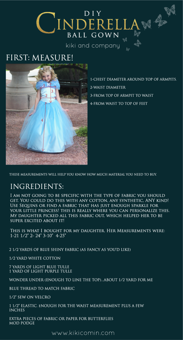 DIY Cinderella Dress Top instructions 1