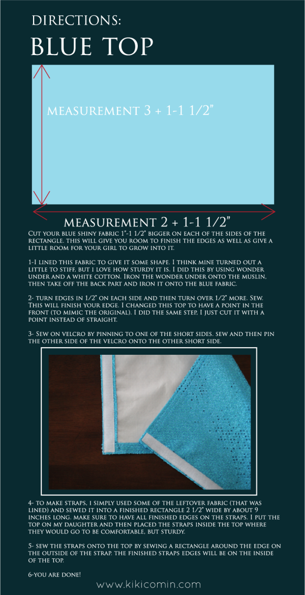 DIY Cinderella Dress Top instructions 2