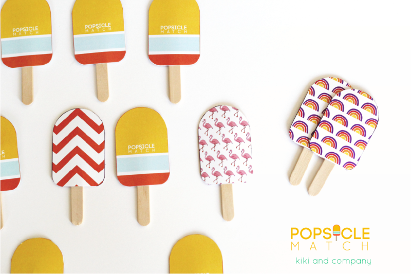 Popsicle Match from kiki and company. Cute!