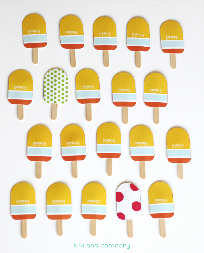 Popsicle Match from kiki and company. Super Cute!