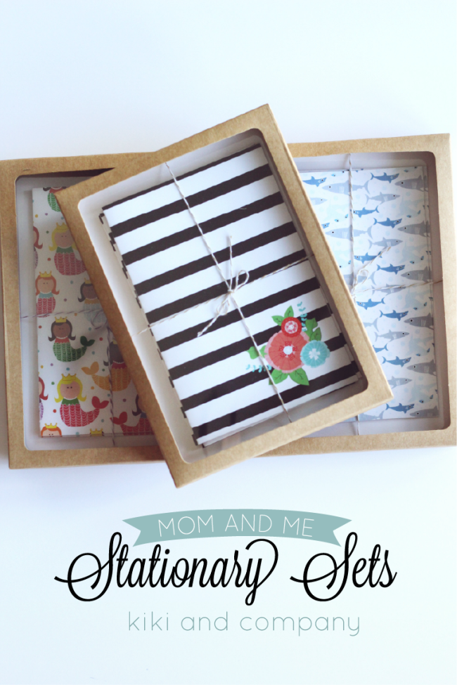 Free Mom and Me Stationary Sets from Kiki and Company. LOVE these!