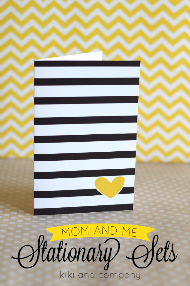 Free Mom and Me Stationary Sets from Kiki and Company. Stripes and Hearts. 1