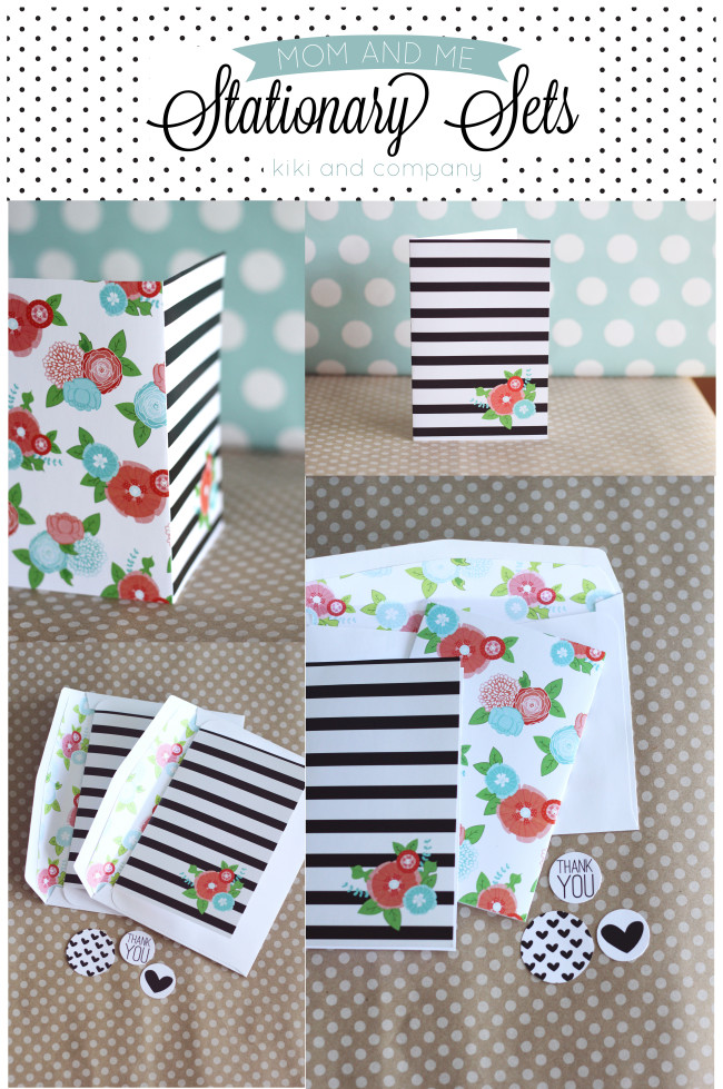 Free Mom and Me Stationary Sets from Kiki and Company