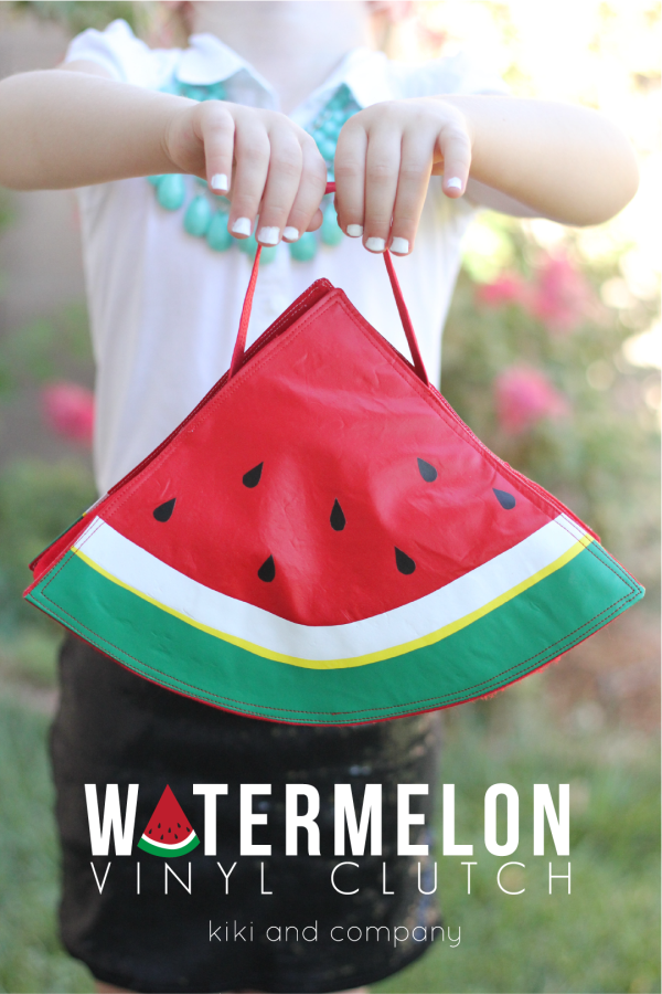 Watermelon Vinyl Clutch from kiki and company. So sweet.