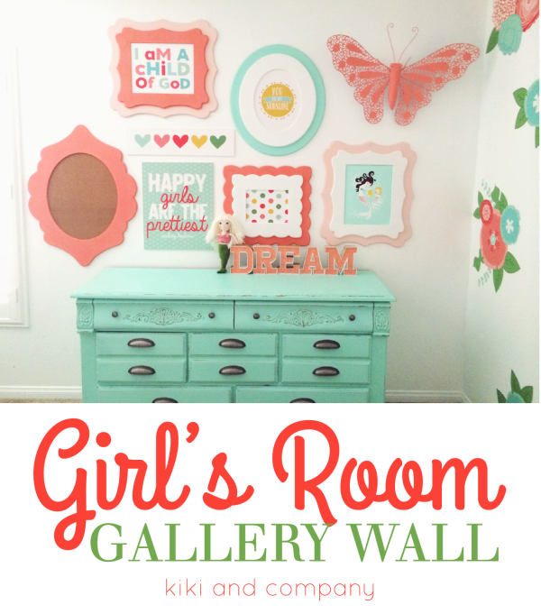 Girl's Room Gallery Wall at kiki and company