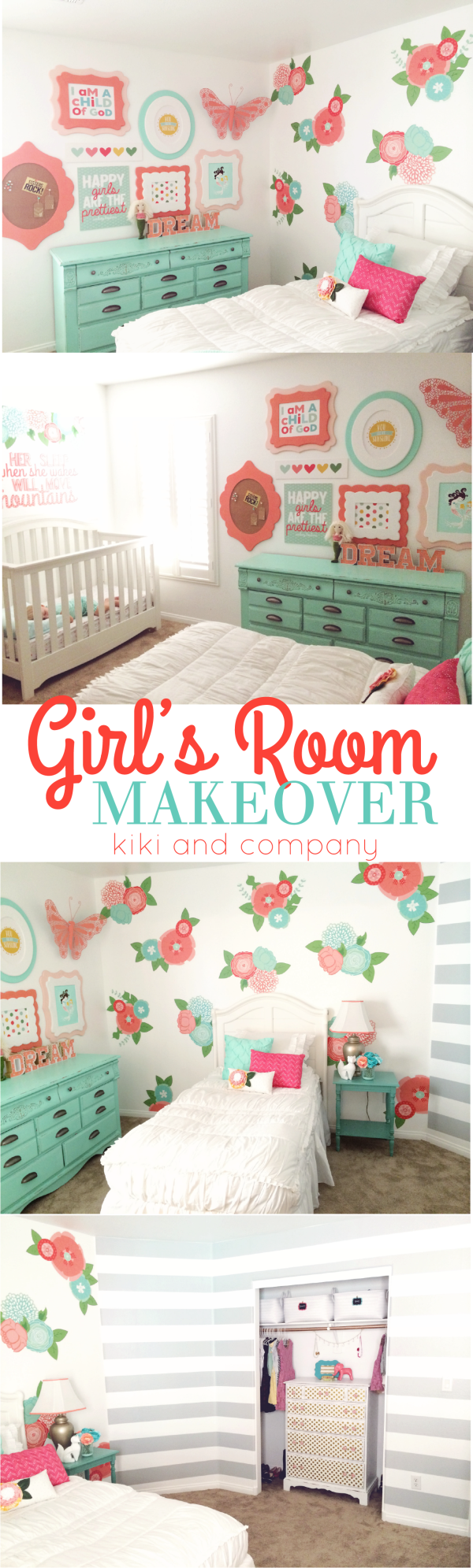 Girl's Room Makeover at Kiki and Company. This ROOM!