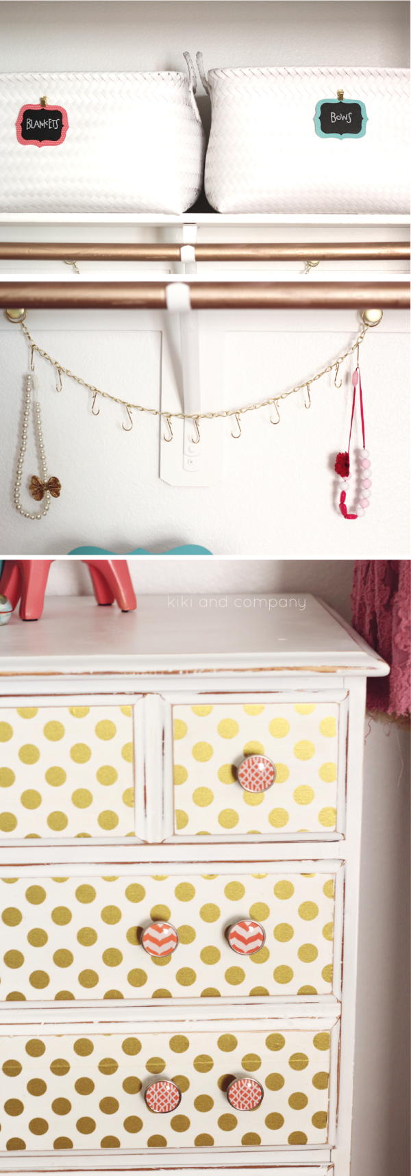 Girl's Room Makeover at kiki and company closet